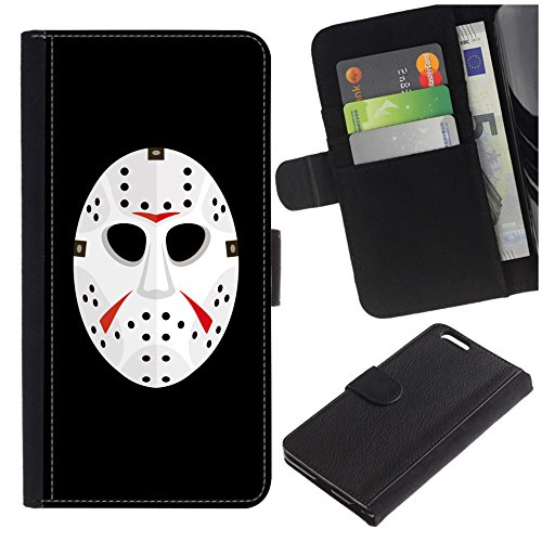 [Ice Hockey Horror Mask] for LG Aristo Case/LG Phoenix 3 / K8 2017 / Fortune/Risio 2 / K4 2017 / V3, Flip Leather Wallet Holsters Pouch Skin Case -