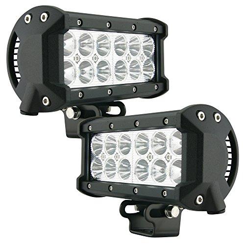 LED Light Bar Nilight 2PCS 6.5 Inch 120W Spot & Flood Combo Driving Light Waterproof Led Work Light Triple Rows Off-road Truck Car ATV SUV Jeep Cabin Boat, 2 Years Warranty