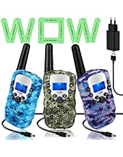 Walkietalkie, radioapparaat voor kinderen, walky, talky, 8 kanalen, 3 km bereik, walkietalki met LCD-scherm, voor 3, 4, 5, 6, 7, 8, 9, 10, 11, 12 jaar, cadeau voor jongens en meisjes