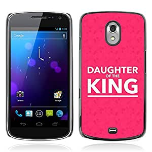 DREAMCASE Bible Quotes Hard Bumper Back Protection Case Cover For SAMSUNG GALAXY GOOGLE NEXUS i9250 - DAUGTHER OF THE KING