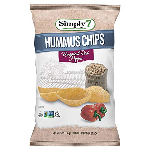 Simply 7 Roasted Red Pepper Hummus Chips, 5 Ounce -- 6 per case.