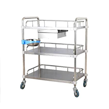 Amazoncom Utility Carts 3 Tier Stainless Steel Rolling Trolley