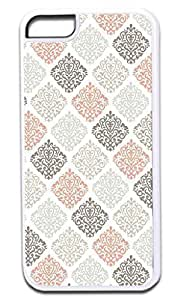 Colorful Damasks- Case for the APPLE IPHONE 6 4.7 ONLY!!!-Hard White Plastic Outer Case