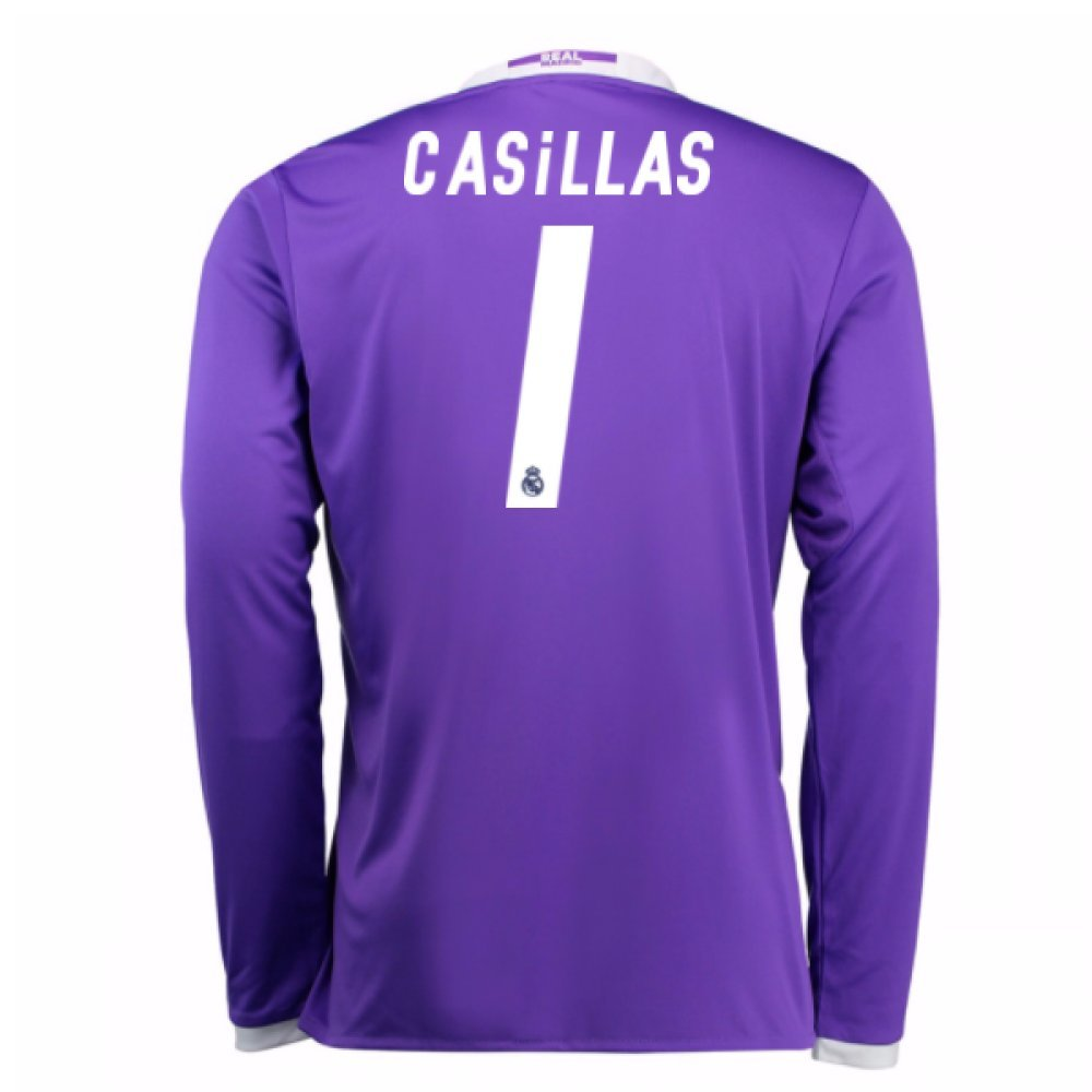 2016-17 Real Madrid Away Football Soccer T-Shirt Trikot (Iker Casillas 1) - Kids