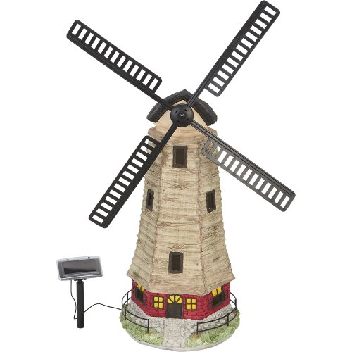- Large Solar Windmill Garden Landscape House Light C5118W