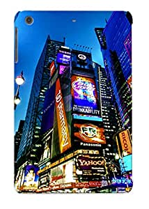 Exultantor High Grade Flexible Tpu Case For Ipad Mini/mini 2 - Times Square New York Usa City Cities Neon Lights( Best Gift Choice For Thanksgiving Day)