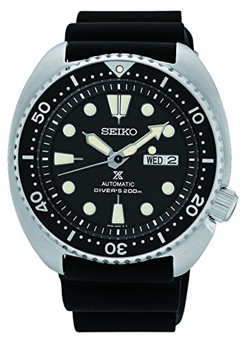 Seiko Men's Automatic Diver Watch with Black Silicone Strap Seiko Automatic 200m Diving Watch