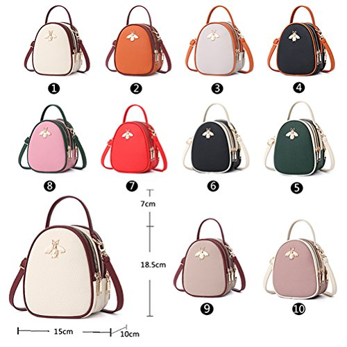 Cellphone Body white Girls Shoulder Travel Messenger Mini Bag Cross Bags Purse YIMOJI Black Small Wallet Bag 5ZXzwW
