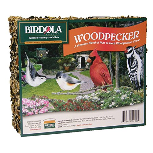 Birdola Woodpecker Seed Cake 54328 - Pack of 5