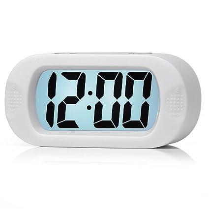 Grande Digital Reloj Despertador de viaje con función repetición, fácil ajuste, Smart retroiluminación de