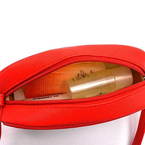mymotto Las Mujeres las Niñas Patrón de Navidad Satchel Bolsos de Hombro Bolsa de Mensajero verde,blanco,rojo