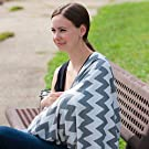 Stylish, Reversible Nursing Cover & Infinity Scarf | Made Of Ultra-Soft, Breathable Cotton Blend | Full Coverage For Breastfeeding Privacy Anywhere