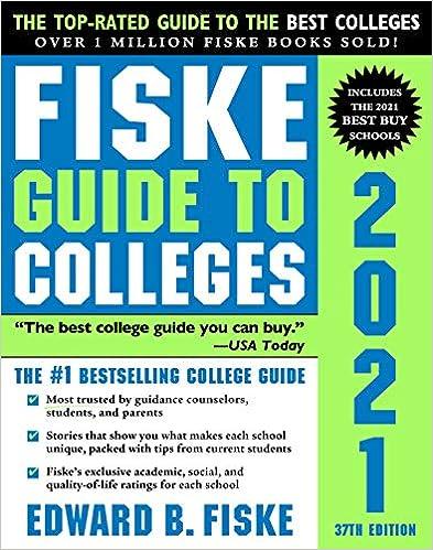 最权威大学选校指南-Fiske Guide to Colleges 2021