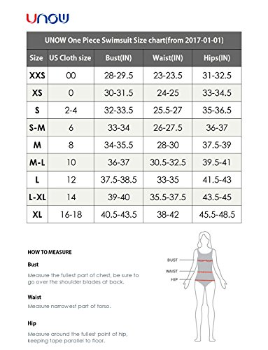 UNOW Women Pro Training Racerback Slimming One Piece Swimsuit (BLACK, S-M)
