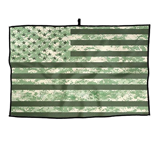 XIKEWL Soft Microfiber Golf Towel Camouflage USA Flag Breathable Chilly Towel - For Yoga, Sport, Running, Gym, Workout,Camping, Fitness, Workout & More Activities ()