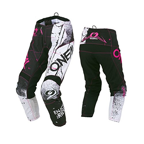 (O'Neal Unisex-Child Element Youth Shred Pant (Pink, 12/14))