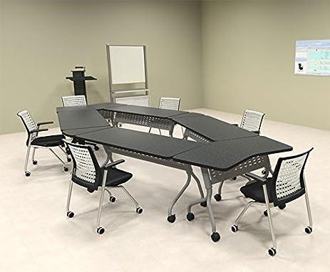 6pcs Diamond Shape Training / Conference Table Set #MT-SYN-LT30 & Amazon.com : 6pcs Diamond Shape Training / Conference Table Set #MT ...