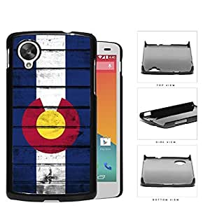 Colorado State Flag On Wood Hard Plastic Snap On Cell Phone Case LG Nexus 5