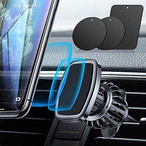 磁気電話車のマウント、車の電話マウント、エアベント電話ホルダー360°すべてのスマートフォン用の回転式自動車電話ホルダー