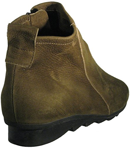 Bootie Women's 'Kaki' Green Arche Leather Tumbled 'Bibiki' in qIAAwf1d