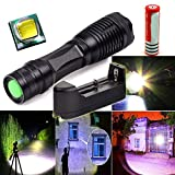 LEYSHIZ XM-L T6 3000LM Tractical Led Flashlight Torch Lamp +18650Battery +Charger - FREE SHIPPING