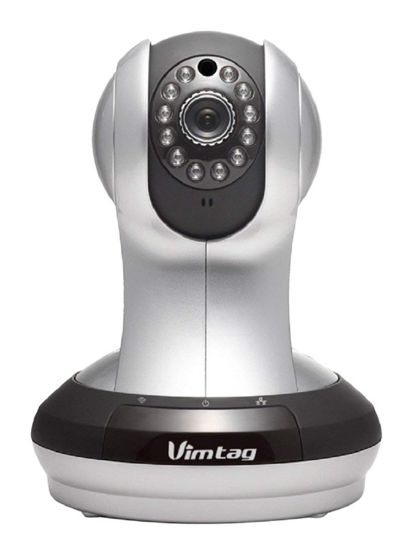Vimtag VT-361 Super HD WiFi Video Monitoring Surveillance Security Camera, Plug/Play, Pan/Tilt with Two-Way Audio & Night Vision (Renewed) by VIMTAG