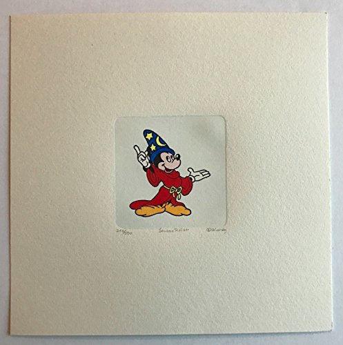 MICKEY MOUSE ETCHING ARTWORK SOWA & REISER #D/500 DISNEY HAND PAINTED SORCERER