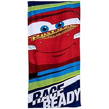 On Sale Disney Cars 3 Lightning McQueen Rad Racers Beach Towel