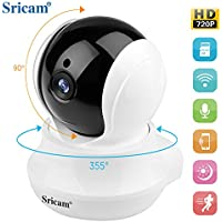 monitor camera Sricam SP020 720p HD wireless IP Night Vision,Two Way Audio Camera for Pet Baby Monitor, Home Security Camera Motion Detection Indoor Camera