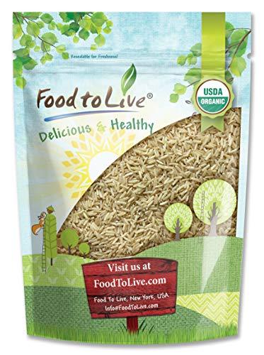 Organic Thai Jasmine Brown Rice, 3 Pounds - Non-GMO, Raw, Whole Grain, Non-Irradiated, Kosher, Vegan, Bulk