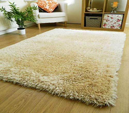 Imsid Carpet Super Modern Shag Area Silky Smooth Rugs Fluffy Rugs Anti-Skid Shaggy Area Rug,Bedroom (Ivory, 3×5 feet