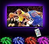 under cabinet hdtv - LED Strip Lights for 32-60 inch TV Backlight, Emotionlite RGB LED Bias Lighting with 24 Keys IR Remote, USB Powered, Multi Color(16 Colors), PU Coating Tape for HDTV LCD
