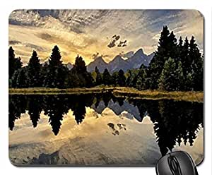 forest lake Mouse Pad, Mousepad (Lakes Mouse Pad, Watercolor style) by ruishername