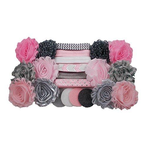 Pink Gray Headband Headbands Birthday product image