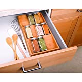 Rightleft Kitchen Bamboo Spice Rack Drawer Tray