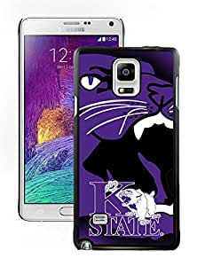 Popular Samsung Galaxy Note 4 Case ,Unique And Lovely Designed With NCAA Big 12 Conference Big12 Football Kansas State Wildcats 2 Black Samsung Galaxy Note 4 High Quality Cover