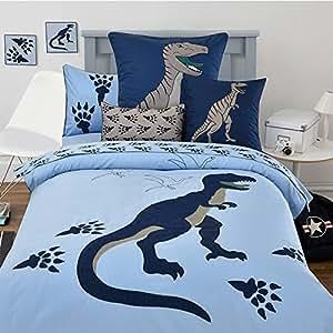 Amazon.com: LELVA Twin Size Dinosaur Bedding Duvet Cover ...
