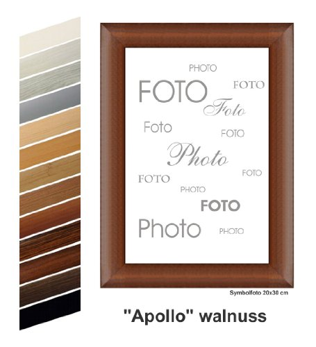 Rahmen nach Maß Apollo MDF Photo Frame Walnut 20 x 20 cm Brown (Brown-rahmen)