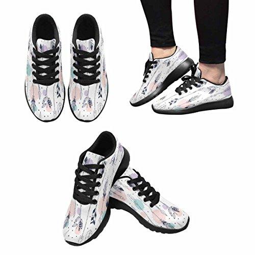 Scarpa Da Jogging Leggera Da Donna Running Running Leggera Easy Go Walking Comfort Sport Scarpe Da Corsa Arrow Pattern Background Multi 1