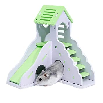 Bulzeu Juego Lovely Hamster Slide Sleeping Escalera Nest House F1T3JuclK