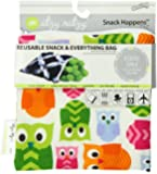 Itzy Ritzy Snack Happened Reusable Snack Bag, Hoot