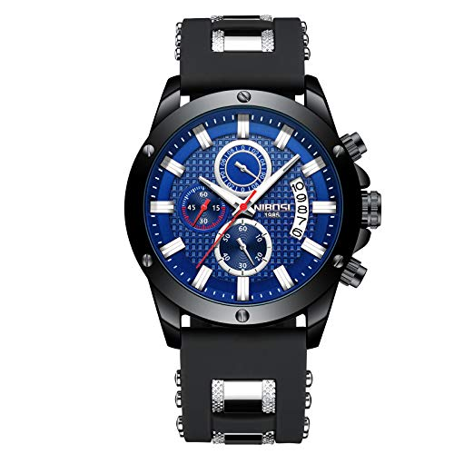 NIBOSI Watches Men's Chronograph Fashion Waterproof Quartz Wrist Watch for ()
