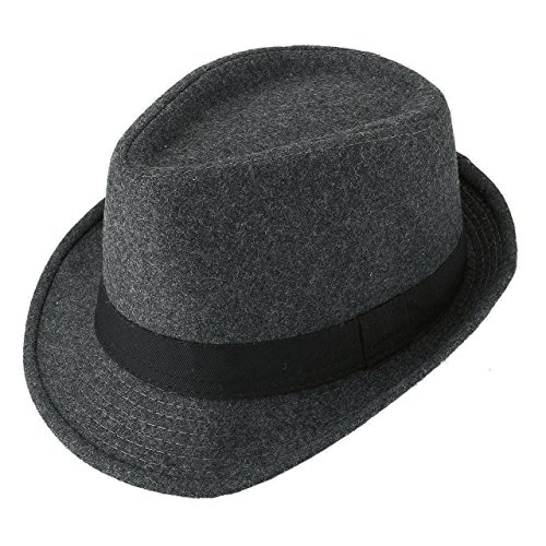 Unisex Classic Manhattan Fedora Hat Black Band Fashion