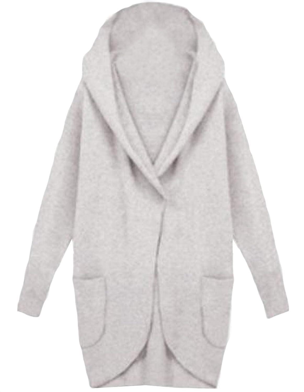 xiaokong Women's Worsted Coat Casual Classic Loose Long Woolen Coats