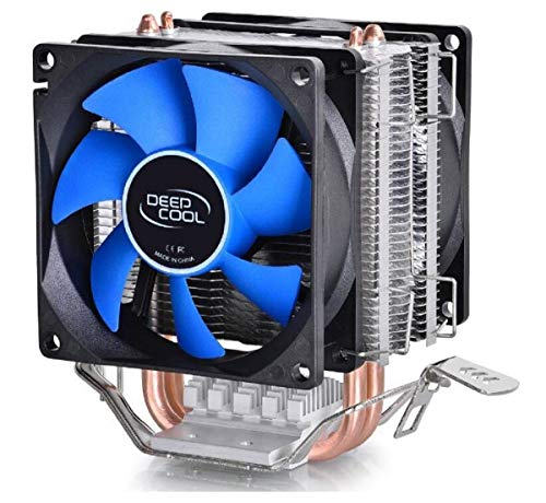 Deep Cool ICE Edge Mini FS V2.0 CPU Cooler Dual 80mm Cooling Fan with Dual Heatpipes Heatsink - Intel LGA115X/LGA775, AM4/FM2/FM1/AM3+/AM3/AM2+/AM2/940/939/754 by Toptekits