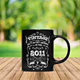 Vintage Born In 2011 Aged Perfectly 7 Years Old Funny 7th Birthday Gift Mug For Kid Boy And Girl,...