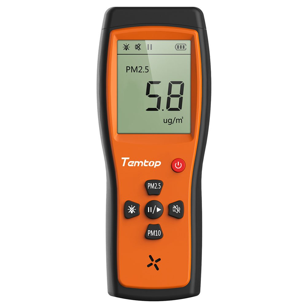 Temtop P200 Air Quality Laser Paticle Detector Professional Meter Accurate Testing for PM2.5/PM10 LCD Display