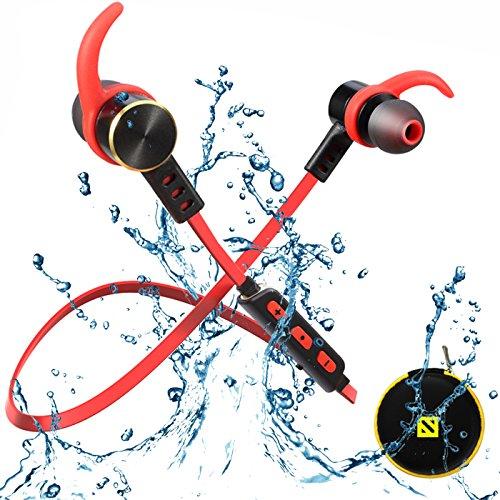 Waterproof Bluetooth Earphones,SONYXER Wireless Earbuds Headset Sport Headphones with Mic and Lifetime Sweatproof Warranty Wireless Earphone with Mini Case