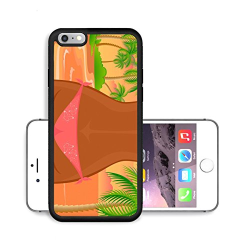 Luxlady Premium Apple iPhone 6 Plus iPhone 6S Plus Aluminium Snap Case IMAGE ID 6570793 Sexy womanish thighs are in Bikini on a beach