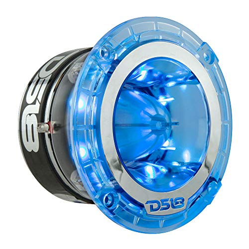 """DS18 PRO-TW4L RGB Super Tweeter - 1.75"""", Polycarbonate Frame and Titanium Diaphragm, 600W Max, 300W RMS, 4 Ohms, Built in Crossover - PRO Tweeters are The Best in The Pro Audio Market (1 Speaker)"""